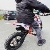 ‼️NOUVEAU ‼️Pocket Cross 60cc 4T boîte AUTO démarreur électrique Rouge 💯 Sur notre site internet : www.e-road.fr